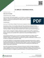 Reso 478-2021 MTESS - Régimen Previsional Para Investigadores Científicos y Tecnológicos