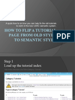 How to Flip a Tutorial Page From Old to Semantic