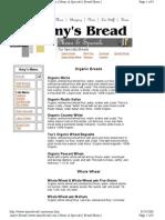 Amy s Bread menu