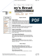 Amy s Bread menu