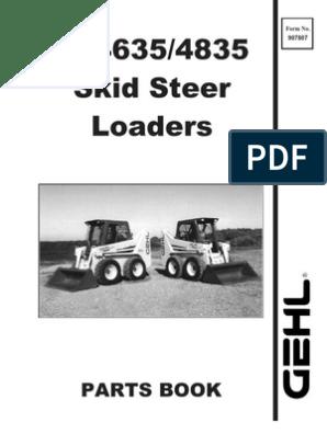 SL4635 & SL4835 Parts Manual | Screw | Nut (Hardware)