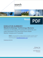 Waste-to-Energy Executive Summary (2011)