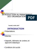 Introduction Au Management Des Organisations IIA 2017