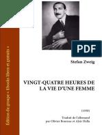 Zweig Vingt-quatre Heures Vie d Une Femme