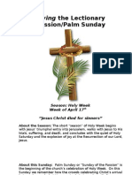Living the Lectionary - Holy Week + Passion Reading