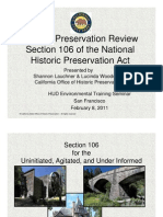 Historic Preservation Review Section 106 of the National Historic Preservation Act