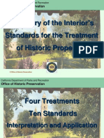 Secretary of the Interior Interior's Standards for the Treatment of Historic Properties