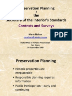 Preservation Planning & the Secretary of the Interior's Standards Contexts and Surveys