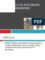 Acute psychotic disorders