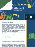 Balanço de Massa e Energia (1)