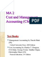 Cost and Management Accounting Overview