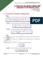 ccp-chimie-mp-2011-corrige