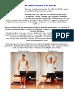 Rutinas de ejercicio sin pesas y sin aparatos