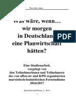 Planwirtschaft in Deutschland - Zukunft