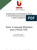 SEMINÁRIO INTERDISCIPLINAR V (Slides)Adaptados 2021 (1)