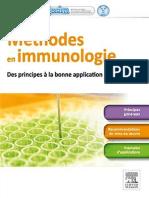 Méthodes en Immunologie Des Principes Aux Bonnes Applications 2014