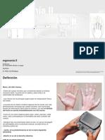teórico de ergonomía de la  mano