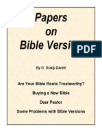 Papers on Bible Versions