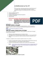 Limpeza geral do Multifuncional ou Fax HP