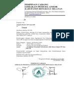 Surat Pelatihan Pemadam Bahaya Kebakaran GP Ansor Bengkulu Selatan