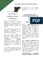 LEY ORGANICA CONTRALORIA GENERAL DEL ESTADO