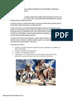 Arte y cultura - DANZAS REGIONALES 3ro D
