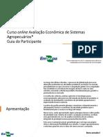 Guia do Participante - Avaliação Econômica de Sistemas Agropecuários