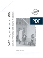 GINZBURG, C. Latitudes escravos e a bíblia (1)