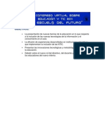 """Presentación del congreso de educación y nuevas tecnologías """"La Escuela derl Futuro""""."""