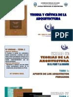 IV Unidad - Tema 1 Aportes de Los Arquitectos Peruanos (1)