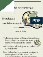 GE2 - Tecnologia e sua Administracao