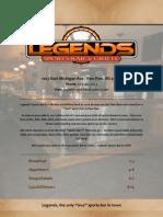 Legends Sports Bar & Grille's Menu