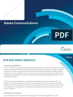 Alaska Communications Investor Presentation