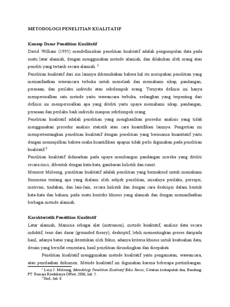 Moleong kualitatif buku pdf metode penelitian