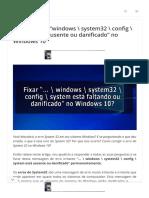 """[CORRIGIDO] """"windows _ system32 _ config _ system está ausente ou danificado"""" no Windows 10"""
