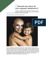 Eu, Leitora Descobri um câncer de mama agressivo enquanto amamentava