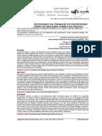 O ESTÁGIO SUPERVISIONADO NA FORMAÇÃO DE PROFESSORES COMO ESPAÇO-TEMPO DE REFLEXÃO SOBRE E NA PRÁTICA