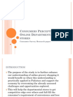 Consumers Perception On Online Departmental Super stores
