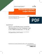 Formen und Konkurrenzen juristischer