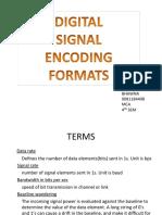 digital signal encoding formats