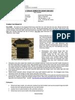 Soal UTS Analisis Estimasi Biaya