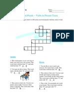 Crossword Puzzle - Verbs in Present Tense 1