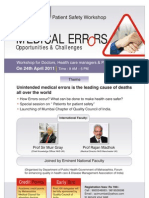 MEDICAL ERRORS -  Conference Programme in Mumbai