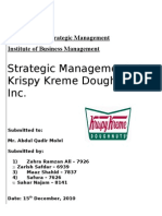 What is a case analysis paper krispy kreme