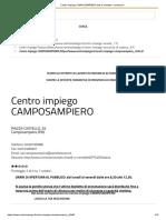 Centro impiego CAMPOSAMPIERO dati di contatto e recensioni