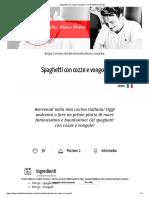 Spaghetti con cozze e vongole – Chef Stefano Barbato