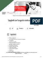 Spaghetti con l'aragosta ricetta originale – Chef Stefano Barbato