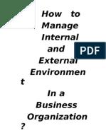 External and internal environment