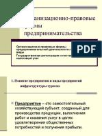 Организационно-правовые Формы Предпринимательства (2)
