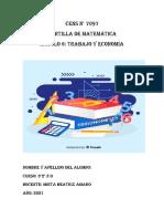 2021-Matematica 3°2°-Modulo 6 Prof. Amaro Mirta